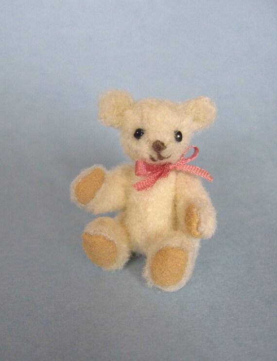 Tiny Miniature Artist Bear teddy bear