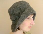 Tweed Floppy Cloche Hat in Woodsy Browns  - MEDIUM