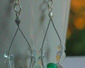 Emerald Green Loop Earrings
