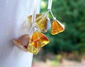 Bursting Triangles  - Silver Earrings