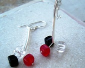 Vegas Dice - Glass and Silver Earrings