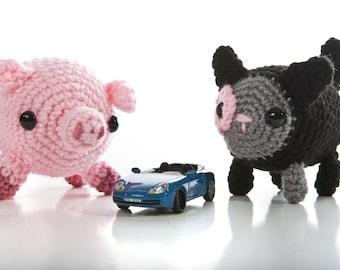 Kitty and Piggy friends crochet pattern