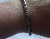 Sterling silver Balinese braided chain bracelet