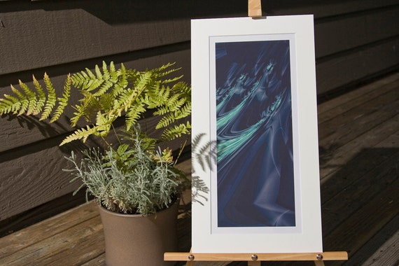 CLEARANCE - Wake 8x14 Matted Fractal Print