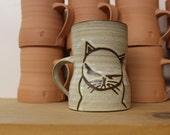 Tall Angry Cat Mug