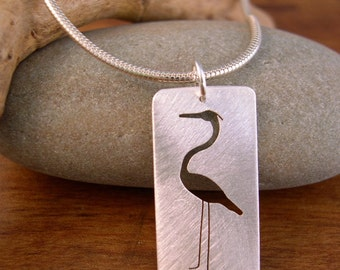 Large Heron Necklace