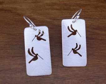 Large Hummingbird Earrings