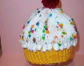 Sprinkled Cupcake Hat for Baby