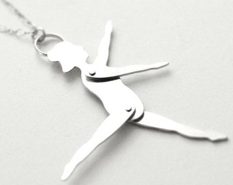 SALE - Tiny Dancer - Articulated Sterling Silver Pendant