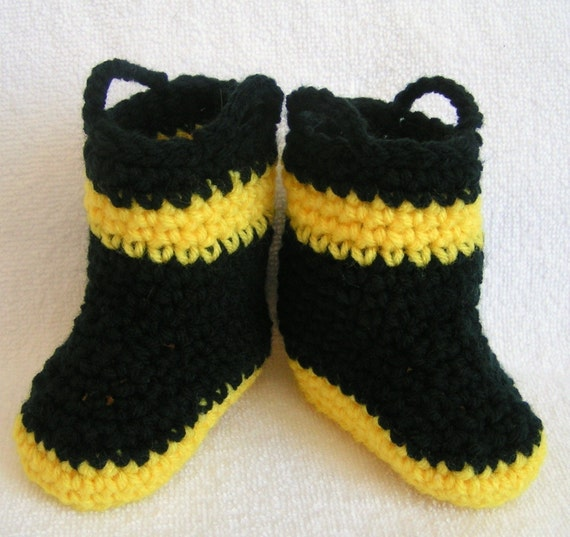 Baby Firefighter Booties Size 0-3 months