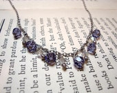 SALE The Lana Necklace... purple swarovski crystal and sterling silver
