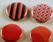 Abstract design one inch pinback button badges collection
