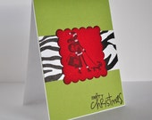 SASSY SHOPPING GIRL Handmade Greeting Card