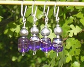 Clearance - Iced Violets row\/stitch markers (set of 4)