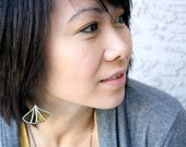 Ginkgo Leaf Earrings from Golden Wine Bottle - Mother's Day Gift