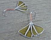 Ginkgo Leaf Earrings from Golden Wine Bottle