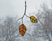 Eco Friendly Gift - Little Glass Elm Leaves - Recycled Glass Bottles - Nature Inspired Leaf