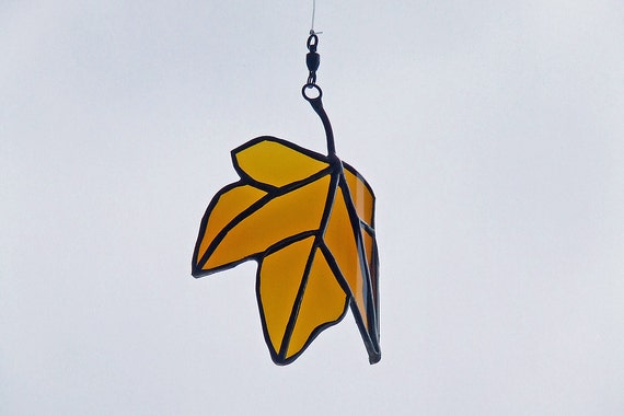 Nature Inspired Gift - Glass Maple Leaf from Recycled Glass Bottle - Eco Friendly Gift