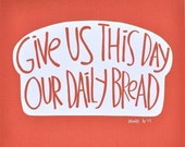 8x10 Daily Bread Red