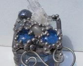 Quartz Crystal and Moonstone Ring Box OOAK