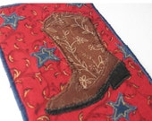 Fabric Postcard  - Cowboy Boot