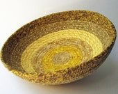 Coiled Fabric Basket - Tans and Golds
