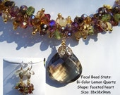 Spice Colors Gemstone Necklace With Earrings