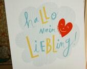 """Hallo mein Liebling Print 8"""" x 10"""""""