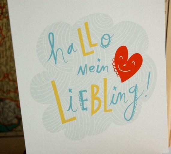 Hallo mein Liebling Print