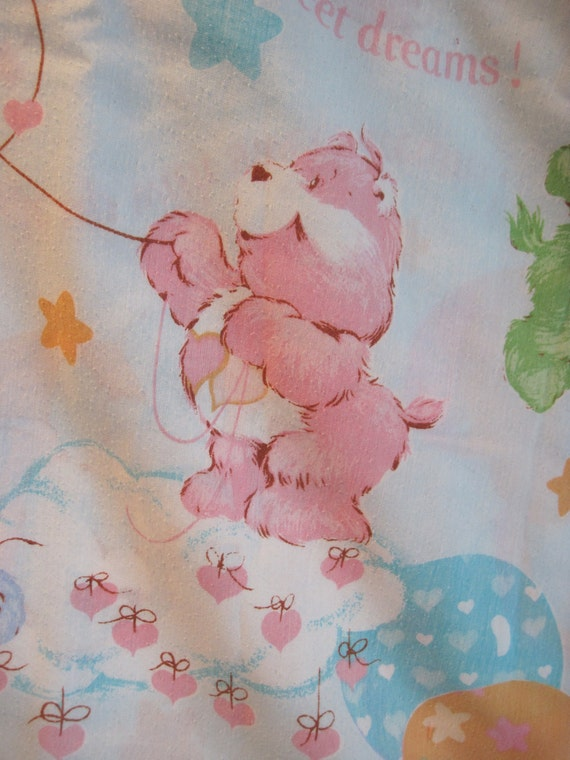 Vintage 1980's Care Bear Twin Sheet