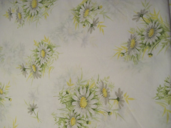 Daisy Print Reclaimed Double Size Bed Linen