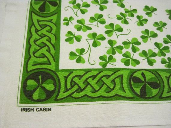 Irish Print Cotton Towel