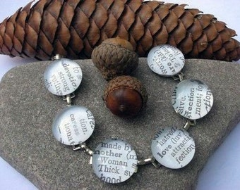 You Choose Words - Custom Dictionary Definition Bracelet You Choose Words or First Names