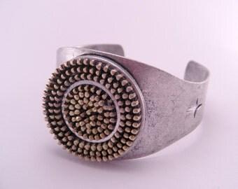Industrial Recycled Zipper Bracelet Oxidized Zipper Cuff
