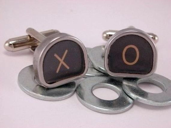 Vintage Typewriter Keys Cufflinks Cuff links- Custom Letters Numbers Symbols
