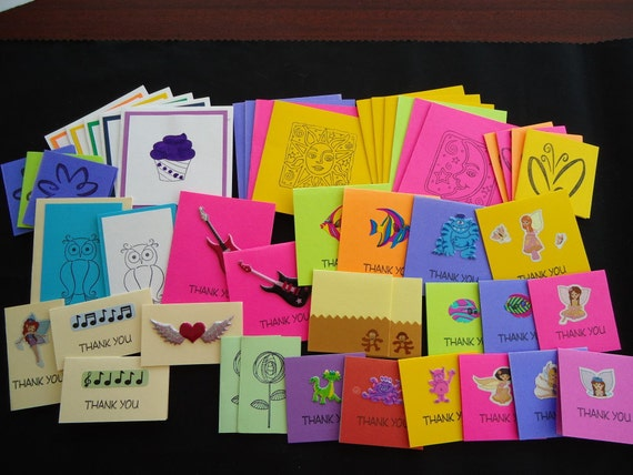 47 mixed lot of little notecards