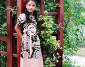A-line DRESS - Amy Butler - Olive Lacework - Pick the size Newborn to 12 Years - by Boutique Mia