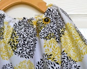 Balloon Peasant Top - Timeless Treasures - Taxi Collection - Pick the size Newborn up to 12 Years by Boutique Mia