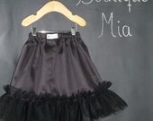 Tulle SKIRT - Cotton and Tulle - Pick the size Newborn up to 12 Years - by Boutique Mia