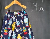 BOYS - Samurai PANTS - Alexander Henry - Robots - 2 Years of Fashion - Pick the size Newborn to 8 Years by Boutique Mia