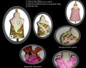 Design your own 'Reversible Pinafore TOP' - Pick the size Newborn up to 8 Years - by Boutique Mia
