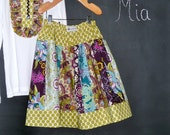CHILDREN -OUTFIT - Extra full Skirt and Tuxedo style Top - Pick the size 3 month up to 12 Years - by Boutique Mia