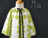 CHILDREN -Peasant Mini DRESS - Vicki Payne - Damask - Pick the size Newborn up to 12 Years - by Boutique Mia