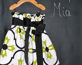 Paper Bag SKIRT - Vicki Payne - Damask - Pick the size Newborn up to 14 Years by Boutique Mia