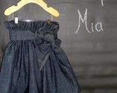 Paper Bag Denim SKIRT and SASH - Pick the size Newborn up to 12 Years by Boutique Mia