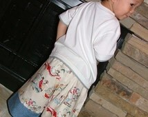 CHILDREN -BOYS - Samurai PANTS - Alexander Henry - Fathersday - 2 Years of Fashion - Pick the size Newborn to 8 Years by Boutique Mia
