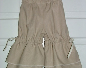 Vintage Style Pants - Linen - 2 Years of Fashion - Pick the size Newborn up to 8 Years by Boutique Mia