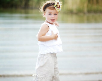CHILDREN -Vintage Style Pants - Linen - 2 Years of Fashion - Pick the size Newborn up to 8 Years by Boutique Mia