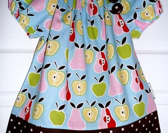 Peasant Top - Alexander Henry - Apple N Pears - Pick the size Newborn up to 12 Years by Boutique Mia