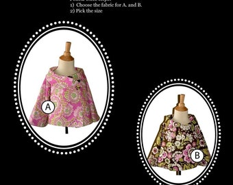 Design your own 'Reversible JACKET' - Pick the size 12 month up to 8 Years - by Boutique Mia